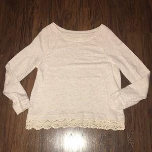 lou & grey Sweatshirt with lace trim detail